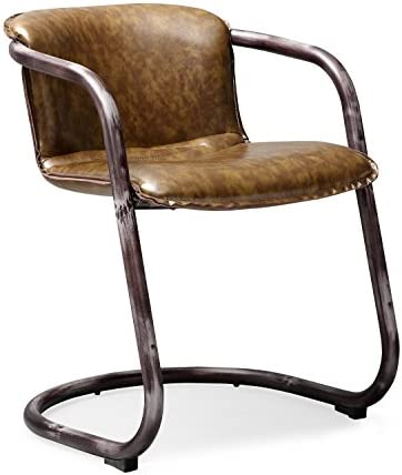 Tov Furniture The Colt Collection Modern Western Style Eco-Leather Upholstered Dining Chair