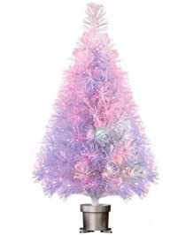 Holiday Time Pre Lit 32 White Fiber Optic Artificial Christmas Tree