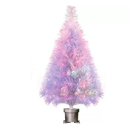 4ft White Fibre Optic Christmas Tree