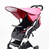 Pink Stroller Sun Shade Extender Universal Awning UV Protection Cover Princess, Baby Umbrella Full Sunscreen, Canopy Extender, Rayshade Pram Baby Carriages Pushchair, New