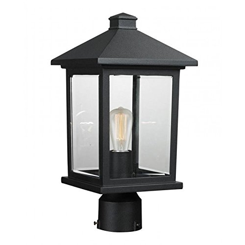Z-Lite 531PHMR-BK 1 Post Mount Light 1, Other (Outdoor Post Contemporary Lights)