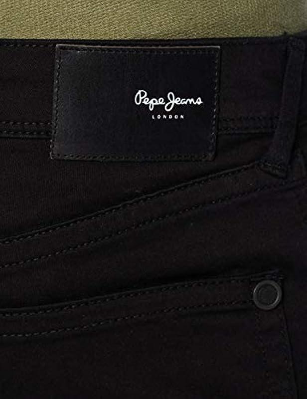 Pepe dżinsy męskie dżinsy Hatch – Slim Fit – czarne – Black Denim: Odzież