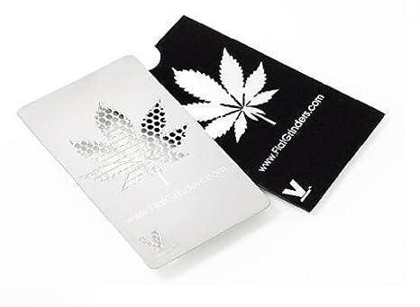 Die perfekte M/ühle//Grinder//Reibe im Scheckkartenformat Amsterdam V-Syndicate Grinder Card
