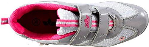 Lico , Baskets pour fille Grau (grau/silber/pink)