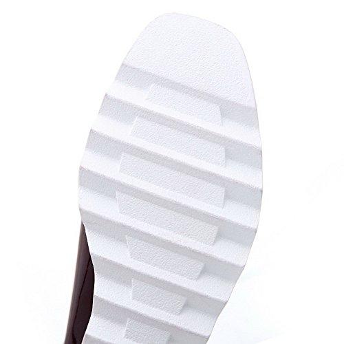 Bandage Flats Shoes Square Ladies Leather Wedges Toe BalaMasa Khaki Patent w8txvq