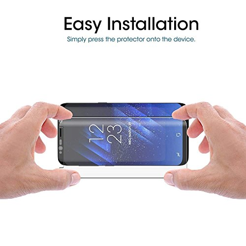 Loopilops Samsung Galaxy S8 Plus Screen Protector 3D Curved Tempered [Anti-Bubble][9H Hardness][HD Clear][Anti-Scratch][Case Friendly] Glass Screen Film for Samsung Galaxy S8 Plus by Loopilops (Image #1)