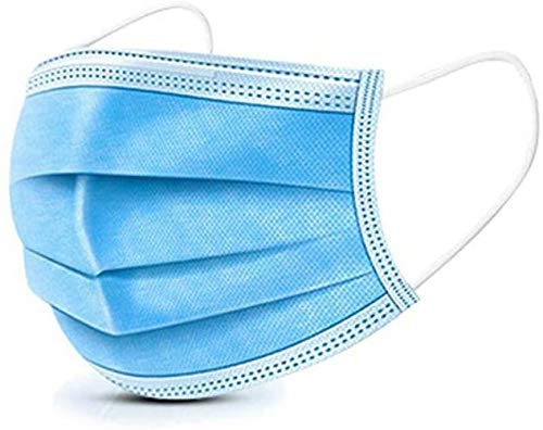 50-Piece Disposable Blue Non-Woven Mask, Dust-Proof Safety Breathable Mask