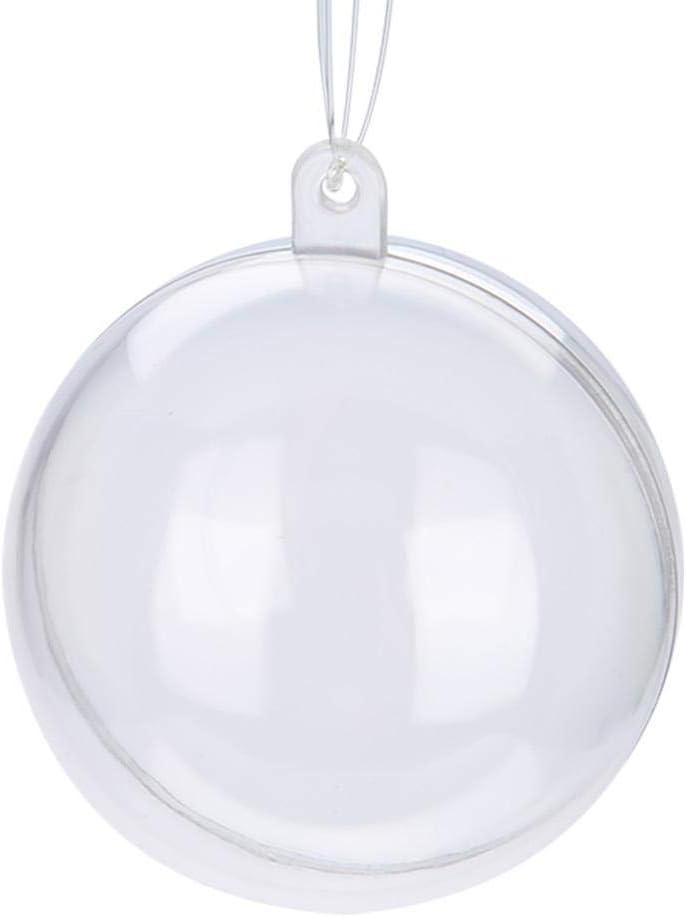 pour la d/écoration de mariage de No/ël 20pcs boule en plastique mignonne ornements de d/écoration transparents remplissables 5CM