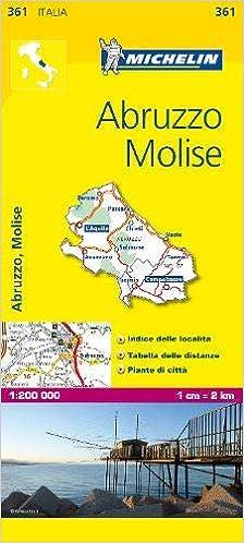 Cartina Michelin Italia.Michelin Map Italy Abruzzo Molise 361 Maps Local Michelin Italian Edition Michelin 9782067126701 Amazon Com Books