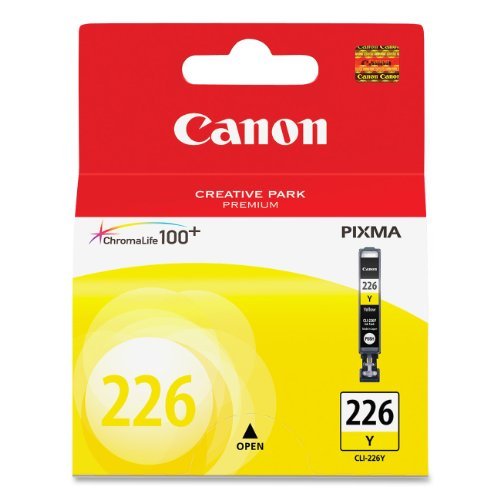 (Canon CLI-226 Yellow Ink Tank Compatible to iP4820, MG5220, MG5120, MG8120, MG6120, MX882, iX6520, iP4920, MG5320, MG6220, MG8220, MX892)