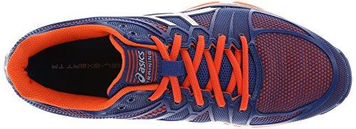 Scarpe da training per allenatore Gel Asics Uomo Asics, Blu Scuro / Argento / Arancio, 7,5 M US