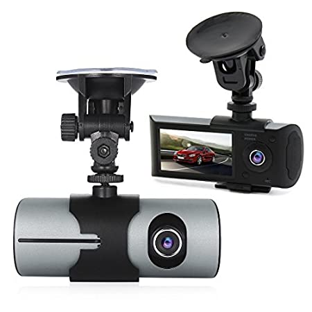 Amazon.com: DealMux 2,7 polegadas TFT LCD HD 1080p Wide Angle Dual Lens Camera Car Driving Video Recorder w G-sensor GPS detecção de movimento: Car ...