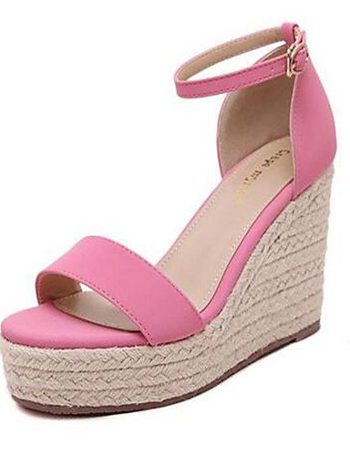 uk6 us8 PU mujer ZQ cn39 eu39 Tacones de cn39 Rosa Robusto black us8 Zapatos cn36 Negro Tac¨®n uk6 Tacones eu39 uk4 eu36 pink Casual pink us6 qwrT86wE