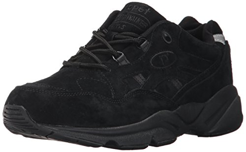 Baskets Cuir Pour Hommes Propet Walker Stability Noir En M2034 Daim qAnw0I5
