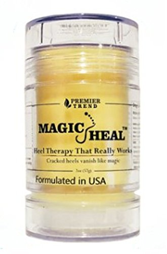 Magic Heal Cracked Heel Treatment For Cracked Heels - Dry Feet Lotion to Repair, Soothe & Beautify Painful Dry Foot Skin - Works Like Magic On Feet - Fast Results, No Mess Stick Application, 2oz