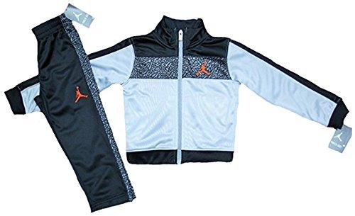 aff7636bdf Galleon - Jordan Nike Air Little Boys' Tricot Tracksuit Jacket & Pants Set,  Black/Grey, 5