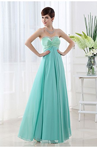 Kleider emily Ball Hellblau Beeded Spitze Blau bis Formale beauty Trägerlos RqC0wwd