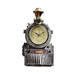 Design Toscano All Aboard Locomotive Train Steampunk Decor Wall Clock, 9 Inch, Multicolored