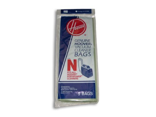 Hoover Type N Bag (5-Pack), 4010038N (N Vacuum Bags)
