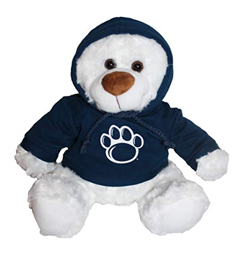 Mascot Factory Penn State Nittany Lions Teddy Bear with Blue Hoodie Sweatshirt with Penn State Logo 9 Inches Tall