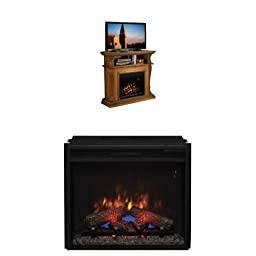 Complete Set Corinth Media Mantel in Premium Oak with 23\
