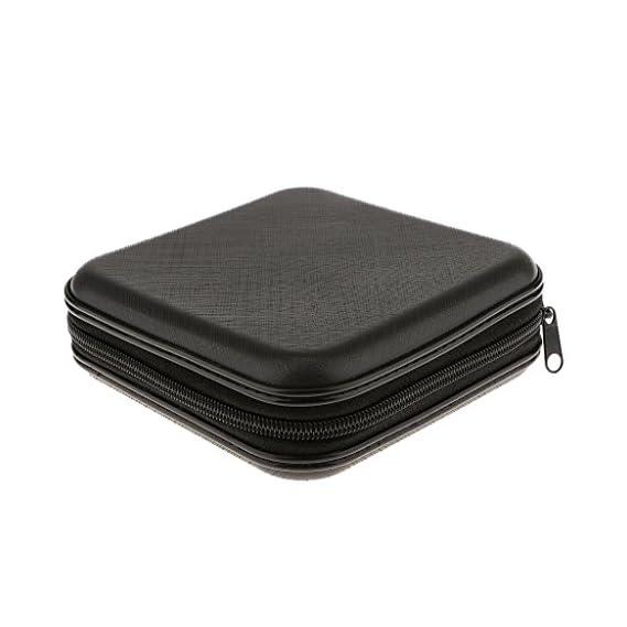 Luxury Line 40 Disc CD DVD Case Storage Bag/Album Holder Box Cover Organizer Records Pouch Wallet (Multi-Color)