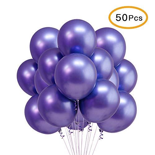 Chrome Purple Balloons, 12