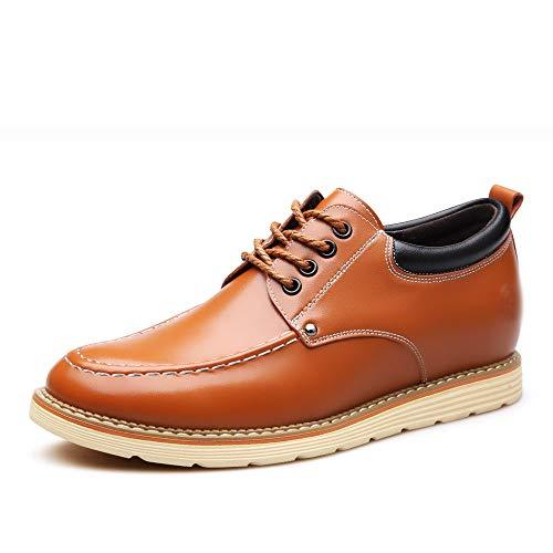 di di uomo uomo Le cuoio da scarpe scarpe WFL le casual da 6 cm Giallo aumentano da uomo invisibili d'affari a7xZq