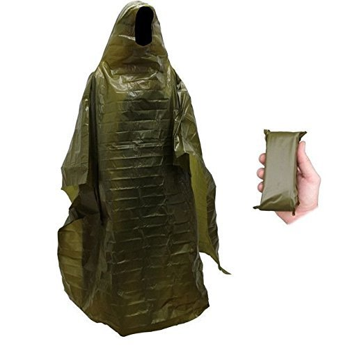 Lightweight Rain Gear Poncho Emergency Survival Cover Shelter Norwegian Military Surplus ABC Beskyttende