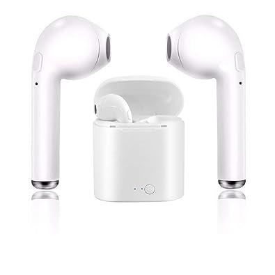Auriculares Bluetooth, Auriculares inalámbricos con estuche de carga Auriculares intrauditivos con micrófono, Manos libres para iPhone X 8 8plus 7 7plus 6S ...