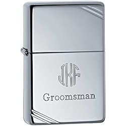 Personalized High Polished Zippo Lighter with Free Engraving