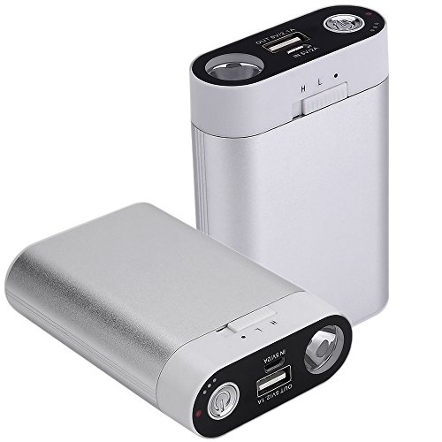 Ewarmer Hand Warmers/Power Bank 7800mAh, Rechargeable Hand Warmer, 7800mah Portable USB Hand Warmer /Power Bank 7800, Portable Battery Charger with LED Flashlight for iPhone 7/7 Plus(Silver)