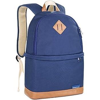 Koolertron Professional Women Canvas Camera Case / Backpack For SLR DSLR Canon Nikon Camera Shoulder Bag Canon (Blue)