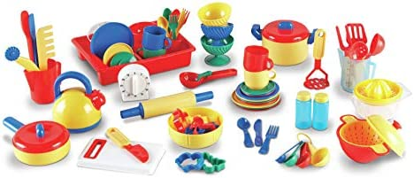 Amazon Com Learning Resources Kitchen Set 73 Pieces Toys Games
