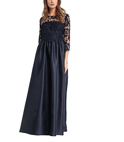 APART Fashion Damen Kleid Blau (Nachtblau)