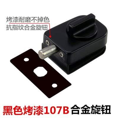 8 black Highend Glass Sliding Door Latch Lock Nonapertured 304 Stainless Steel Glass Door Lock for Shower Room Bathroom Accessories  (color  6)
