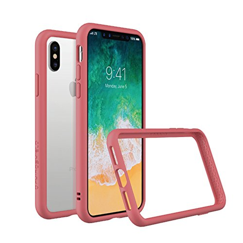RhinoShield Ultra Protective Bumper Case for [ iPhone X/XS ] CrashGuard, Military Grade Drop Protection for Full Impact, Slim, Scratch Resistant, Coral Pink