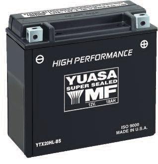 2010 Arctic Cat 700 EFI H1 4x4 Auto Mud Pro High Performance Maintenance Free Battery - YTX20H-BS, Manufacturer: Yuasa, YTX20H-BS YUASA BATTERY
