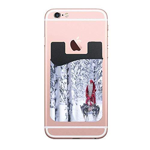 Cellcardphone Christmas Child Sleigh Dog Premium Cell Phone Card Holder Sticker Firmly Mobile Cell Phones 2 -