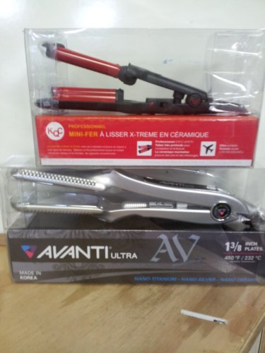 Avanti Nano Titanium Flat Iron + KQC Mini Deep Waver