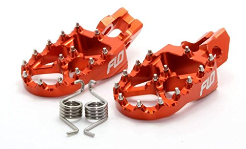 Flo Motorsports FPEG-795-2 ORG Pro Series Foot Pegs - Orange by Flo Motorsports