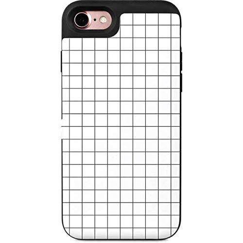 Amazon Com Skinit Patterns Iphone 7 Wallet Case White Grid Design