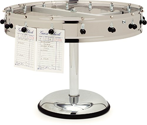 Carlisle 3812MP Stainless Steel Portable Order Wheel with 12 Clips, 14'' Diameter x 5.75'' Height by Carlisle (Image #7)
