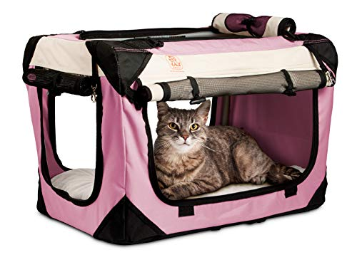 PetLuv Premium Cat Carrier & Travel Crate with Added Safety Features | The Happy Cat Carrier | Reduces Anxiety | (24' x 16' x 16')