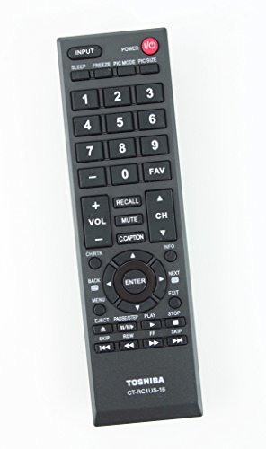 New CT-RC1US-16 Replaced Remote Control Fit for Toshiba 40L310U 32L110U 49L310U 55L310U 43L310U 28L110U 65L350U