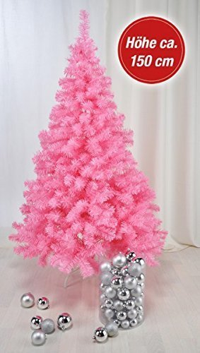 Gravidus Artificial Christmas Tree 150 cm Plastic Pink