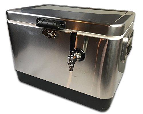 Coldbreak Brewing Equipment CBJB54SPT1 Jockey Box, 1 Tap, Stainless Pass Through, 54 quart Cooler, 50' Coil, 0.25'' ID, 0.3125'' OD, Stainless Steel, Silver by Coldbreak Brewing Equipment