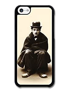 MMZ DIY PHONE CASEAMAF ? Accessories Charlie Chaplin Sitting Sepia Portrait case for ipod touch 5