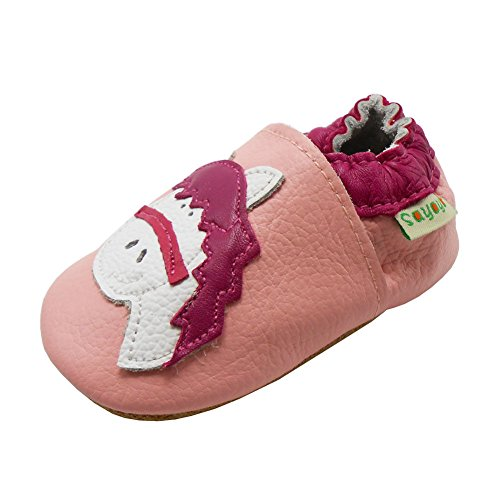 Sayoyo Baby Horse Soft Sole Pink Leather Infant And Toddler Shoes 18-24Months