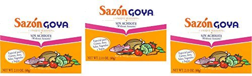 Goya Sazon Sin Achiote (Without Annatto) - Pack of 3